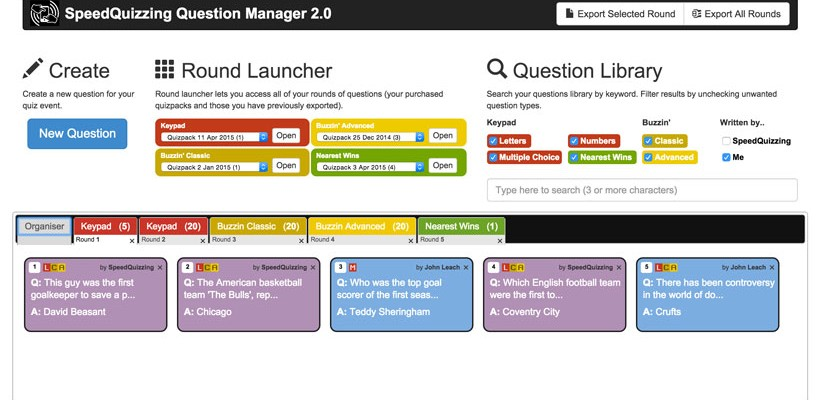 Introducing the all new SpeedQuizzing Question Manager